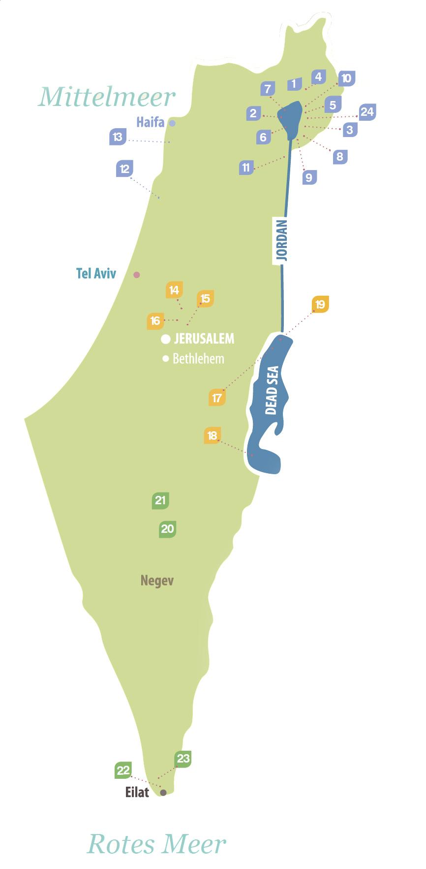 Israel Karte.Kibbutz Israel Karte